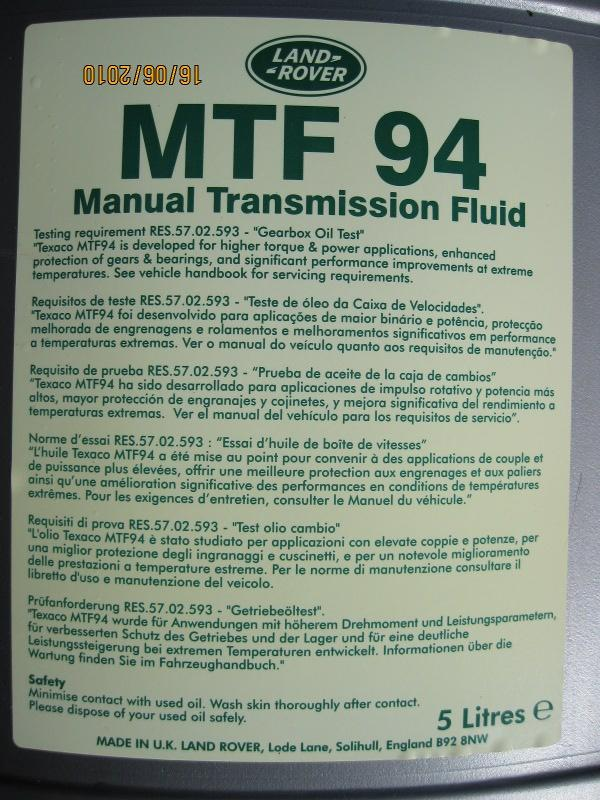 How Much Is Mtf94 In The Uk Mg Rover Org Forums